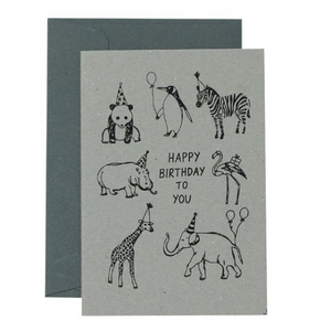 Me & Amber Greeting Card - Party Animals