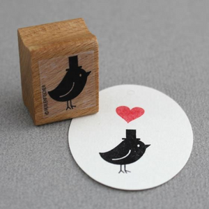 Perlenfischer Stamp - Bird with Hat | Perlenfischer | Paperpoint Stationery South Melbourne