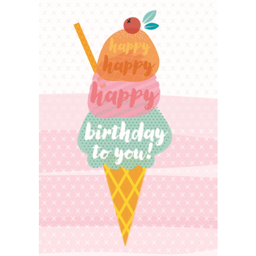 Little Red Owl Greeting Card - Birthday Cherry On Top | Little Red Owl | Paperpoint Stationery South Melbourne