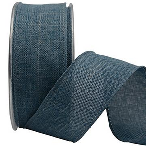 Ribbon: 38mm Natural Weave - Jeans Blue (per metre)