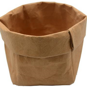Washable Paper Sack -  Tan, Large