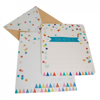 hiPP Invitation Set - Confetti Colourful | HiPP | Paperpoint Stationery South Melbourne
