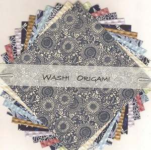 Origami Paper Pack - Blue Yuzen Mix, 150mm Square | Washi Craft | Paperpoint Stationery South Melbourne
