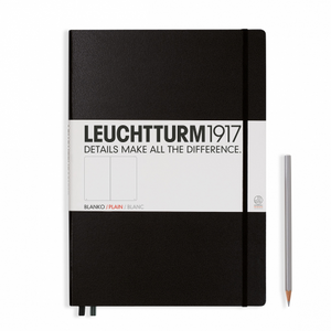 Leuchtturm1917 Notebook - Plain, A4+, Black | Leuchtturm1917 | Paperpoint Stationery South Melbourne