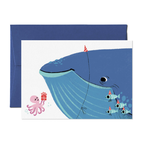 Card Nest Greeting Card - Whale of a Time