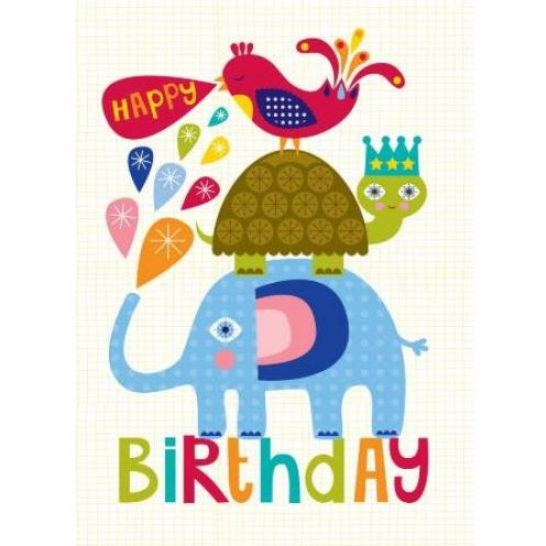 Little Red Owl Greeting Card - Animal Stack Birthday | Little Red Owl | Paperpoint Stationery South Melbourne