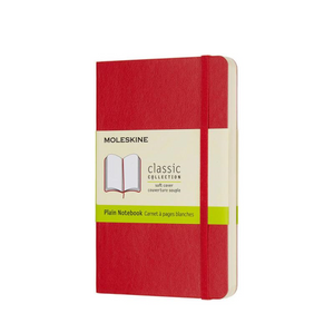 Moleskine Soft Cover Notebook - Plain, Pocket, Scarlet Red | Moleskine | Paperpoint Stationery South Melbourne