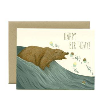 Yeppie Paper Greeting Card - Grizzly Bear Cupcakes