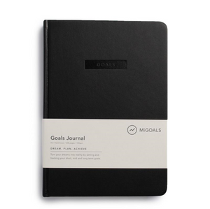 MiGoals Goals Journal - A5, Hard Cover, Black