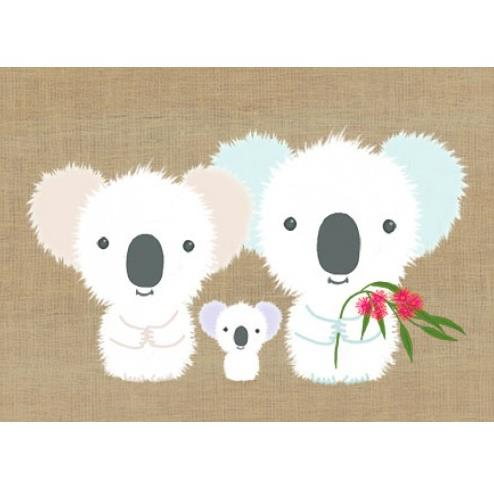 Gillian Mary Greeting Card - Super Cute Koala Family | Gillian Mary | Paperpoint Stationery South Melbourne