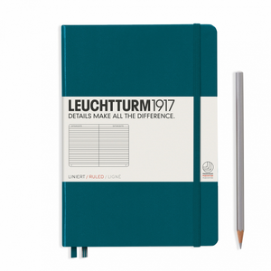Leuchtturm1917 Notebook - Ruled, A5, Pacific Green