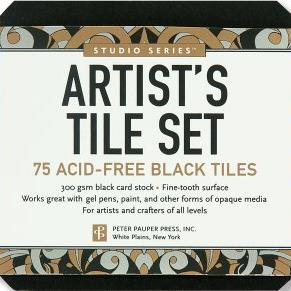 Studio Series - Artist's Tiles Black | paperpoint store | Paperpoint Stationery South Melbourne