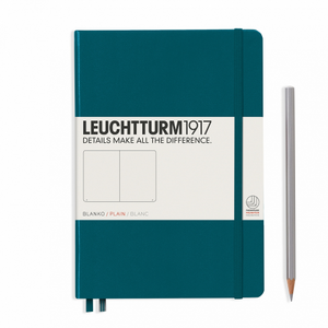 Leuchtturm1917 Notebook - Plain, A5, Pacific Green
