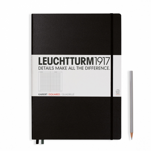 Leuchtturm1917 Notebook - Squared, A4, Black | Leuchtturm1917 | Paperpoint Stationery South Melbourne