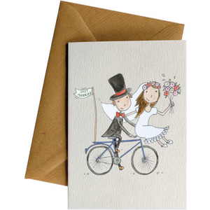 Little Difference Greeting Card - Just Married Bike