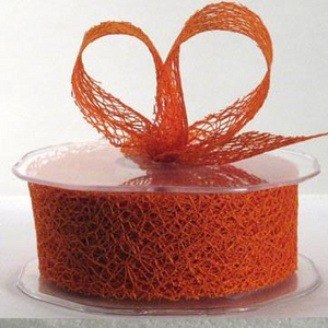 Ribbon: 38mm Open Mesh - Orange (per metre)