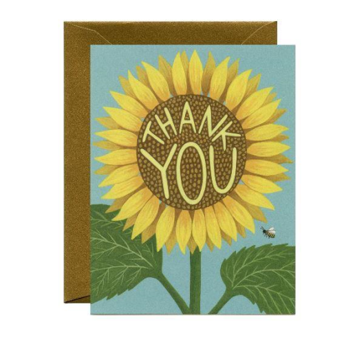 Yeppie Paper Greeting Card - Sunflower Thank You