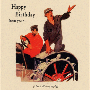 Archelaus Happy Birthday from your... Soviet Tractor Driver | Archelaus | Paperpoint Stationery South Melbourne