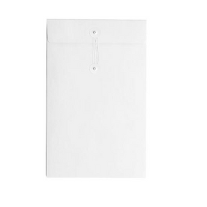 Button & String Envelope - C6 (114 x 162mm), White/White B&S | Button & String | Paperpoint Stationery South Melbourne