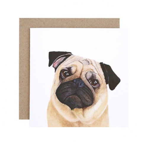 Pedro the Pug Greeting Card | For Me By Dee | Paperpoint Stationery South Melbourne