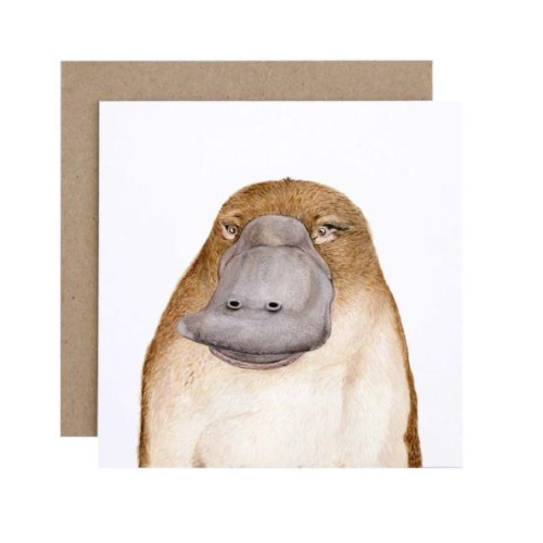 Poppy the Platypus Greeting Card | For Me By Dee | Paperpoint Stationery South Melbourne