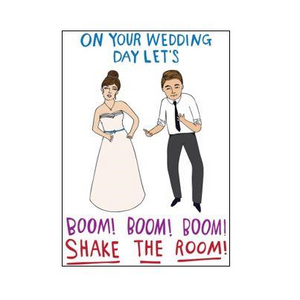 Able & Game Greeting Card - Wedding - Boom!