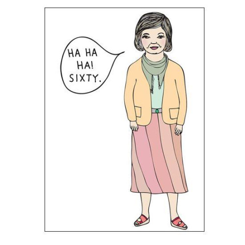Able & Game Greeting Card - Ha Ha 60 (Girl) | Able & Game | Paperpoint Stationery South Melbourne