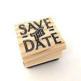 East of India Rubber Stamp - Save The Date