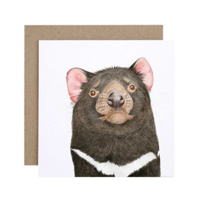 Desmond the Tassie Devil Greeting Card | For Me By Dee | Paperpoint Stationery South Melbourne
