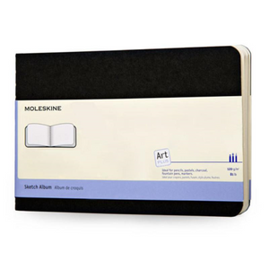 Moleskine Art Cahier Sketchbook - Plain, Large, Black | Moleskine | Paperpoint Stationery South Melbourne