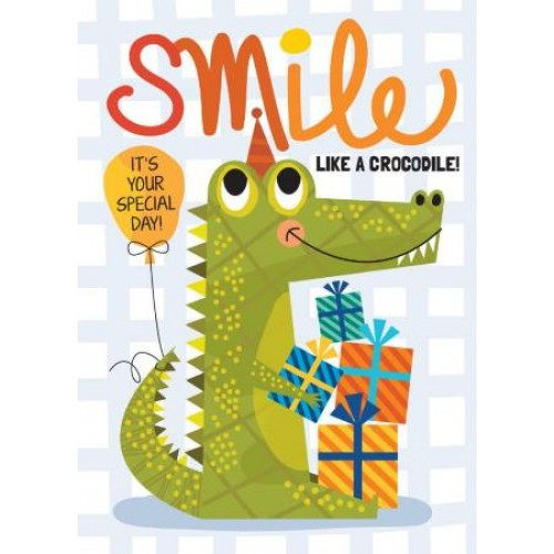 Little Red Owl Greeting Card - Crocodile Smile Birthday | Little Red Owl | Paperpoint Stationery South Melbourne