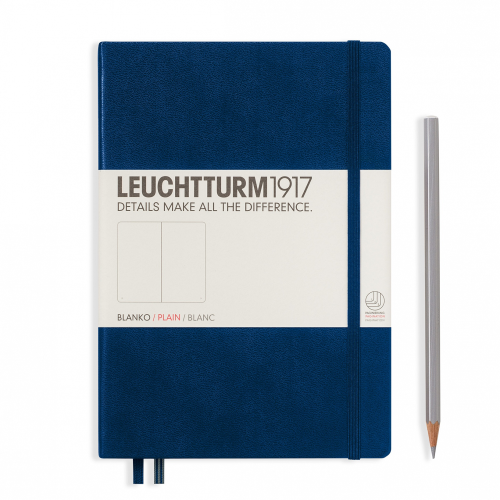 Leuchtturm1917 Notebook - Plain, A5, Navy | Leuchtturm1917 | Paperpoint Stationery South Melbourne