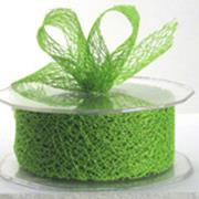 Ribbon: 38mm Open Mesh - Green (per metre)