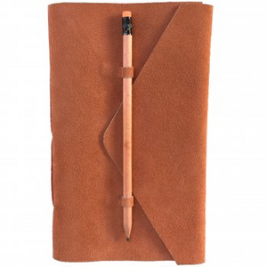 Nero Medici Suede Journal - Apricot