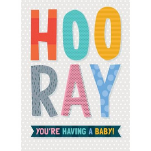 Little Red Owl Greeting Card - Hooray Baby