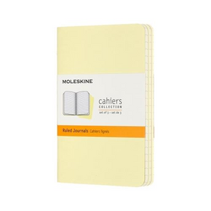 Moleskine Cahier Notebook - Ruled, Pocket, Tender Yellow