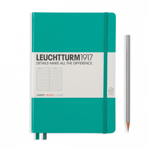 Leuchtturm1917 Notebook - Ruled, A5, Emerald | Leuchtturm1917 | Paperpoint Stationery South Melbourne