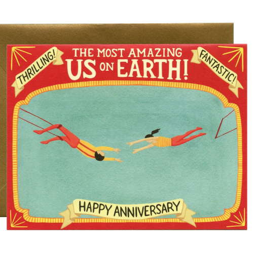 Yeppie Paper Greeting Card - Trapeze Artists