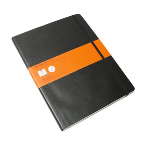 Moleskine Soft Cover Notebook - Ruled, Extra Large, Black | Moleskine | Paperpoint Stationery South Melbourne