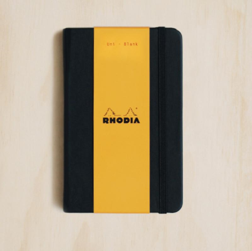 Rhodia WebNotebook - Plain, A6, Black | Rhodia | Paperpoint Stationery South Melbourne