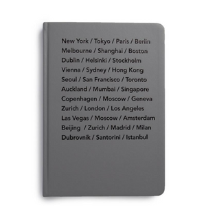 MiGoals Bucket List Cities Journal - A5, Hard Cover, Grey
