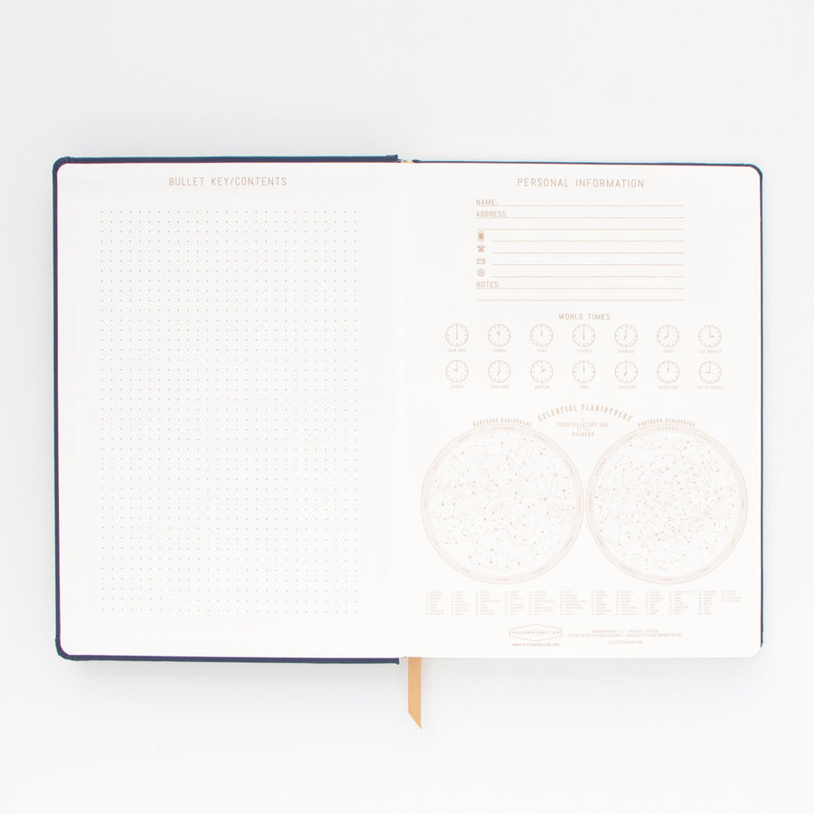 Designworks Cloth Cover Notebook - Extra Large, Live by the Sun