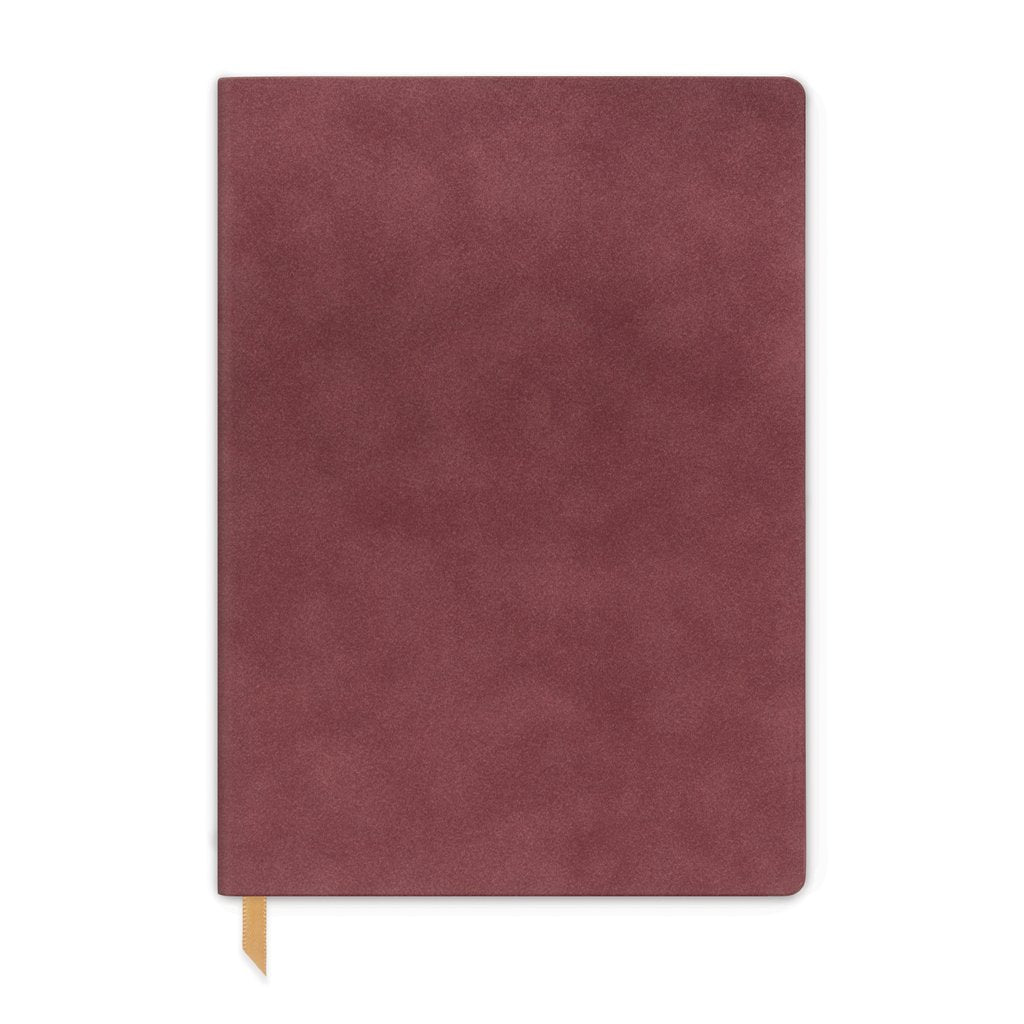 Designworks Vegan Suede Journal - Large, Burgundy