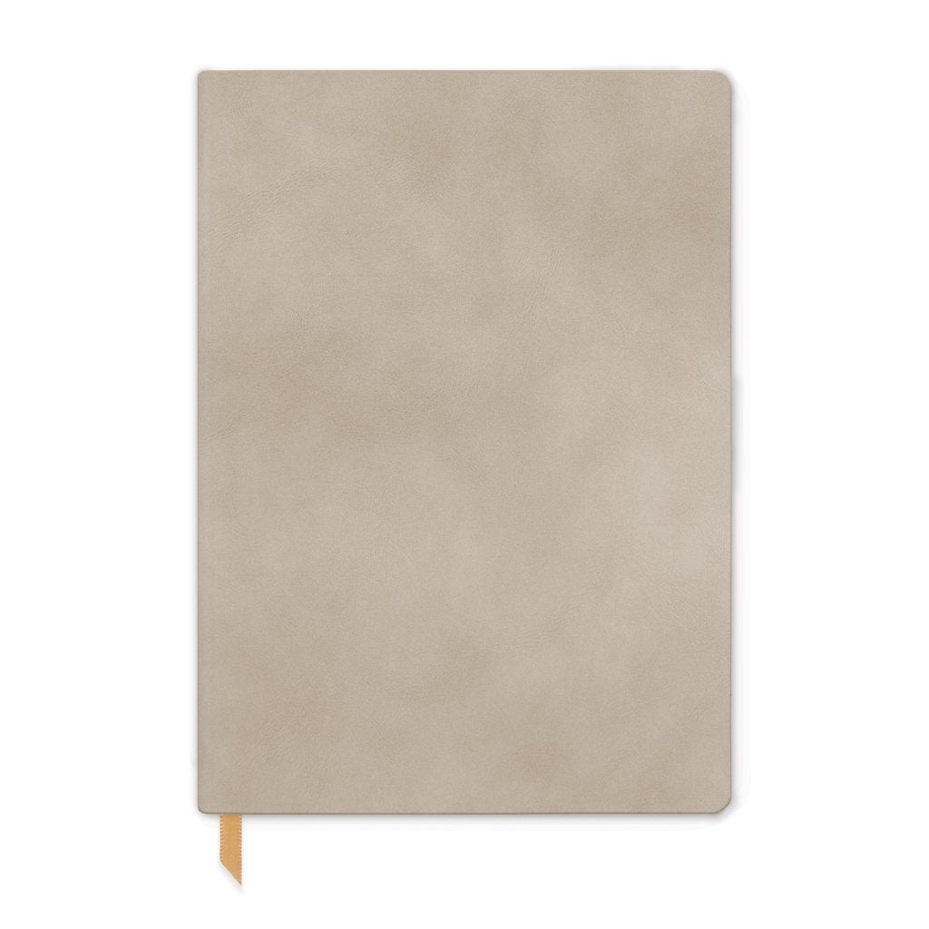 Designworks Vegan Suede Journal - Large, Mushroom