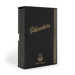 "Designworks Undated Travel Planner Set - Black, ""Adventure"", Box of 5"