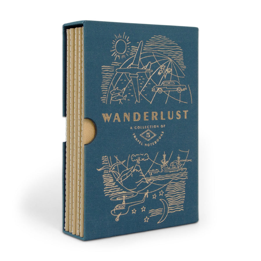 "Designworks Undated Travel Planner Set - Black, ""Wanderlust"", Box of 5"