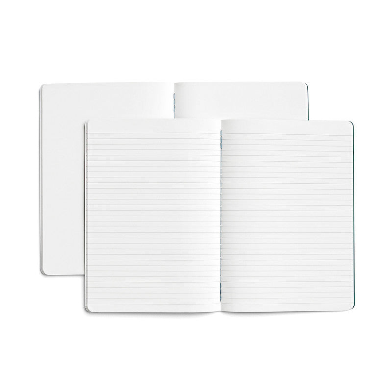 Karst Journal Twin Pack - Plain + Ruled, A5, Forest