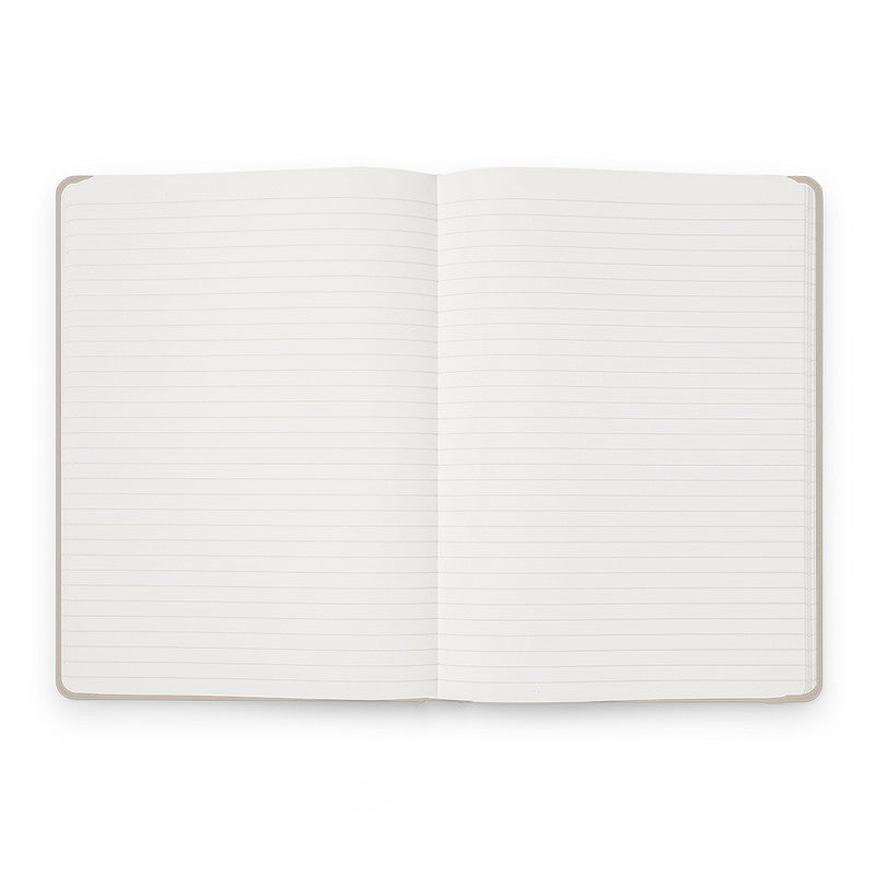 Karst Hard Cover Notebook - Ruled, A5, Stone