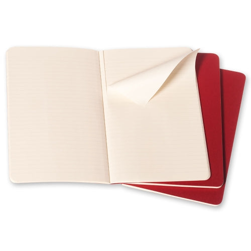 Moleskine Cahier Notebook - Ruled, Large, Red