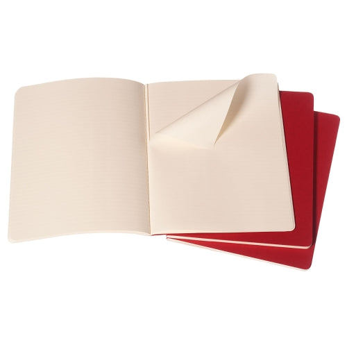 Moleskine Cahier Notebook - Ruled, Extra Large, Red